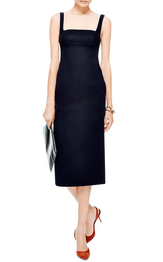 Double-Face Wool-Blend Midi Dress by Rochas Now Available on Moda Operandi
