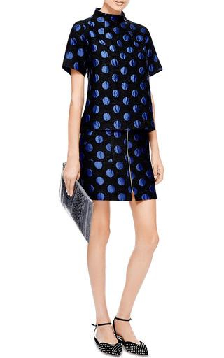 Suno - Zip-Front Jacquard Skirt