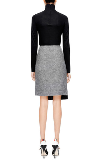 Boiled-Wool Faux Wrap Skirt by Suno Now Available on Moda Operandi