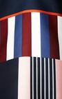 Suno - Striped Faux Wrap Satin Dress