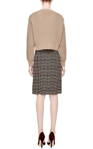 Cropped Waffle-Knit Sweater by Marc Jacobs Now Available on Moda Operandi