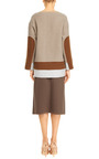 Marc Jacobs - Color-Block Brushed-Wool Tunic
