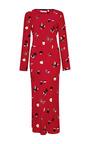 Andrea Printed Silk-Satin Dress by Piamita Now Available on Moda Operandi