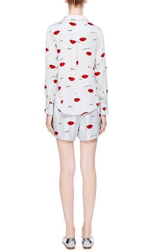 Dania Lip-Print Silk Shorts by Piamita Now Available on Moda Operandi