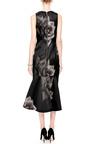 Josh Goot - Printed Silk-Gazar V-Neck Dress