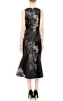 Printed Silk-Gazar V-Neck Dress by Josh Goot Now Available on Moda Operandi
