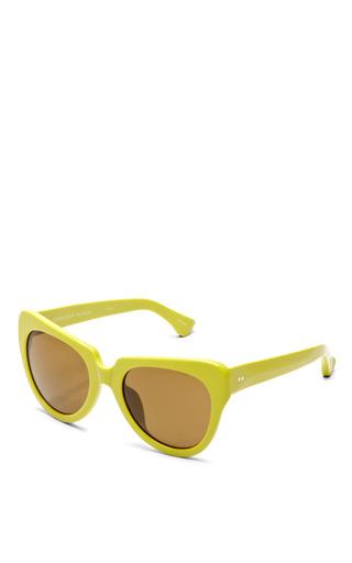 For Dries Van Noten Cat-Eye Acetate Sunglasses by Linda Farrow Now Available on Moda Operandi