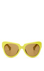 For Dries Van Noten Cat-Eye Acetate Sunglasses by Linda Farrow Now Available on Moda Operandi