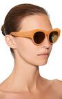 For Dries Van Noten D-Frame Acetate Sunglasses by Linda Farrow for Preorder on Moda Operandi