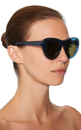 For Dries Van Noten D-Frame Acetate Sunglasses by Linda Farrow Now Available on Moda Operandi