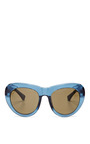 For Dries Van Noten D-Frame Acetate Sunglasses by Linda Farrow Now Available on Moda Operandi