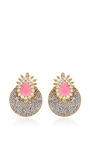 Luna Gold-Plated Crystal Earrings by Shourouk Now Available on Moda Operandi