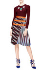 LTN Tweed and Printed Crepe-Jersey Skirt by Peter Pilotto Now Available on Moda Operandi