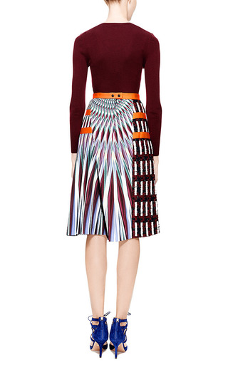 Peter Pilotto - LTN Tweed and Printed Crepe-Jersey Skirt