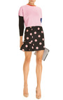 Eva Neoprene Mini Skirt in Black/Pink by Vivetta Now Available on Moda Operandi