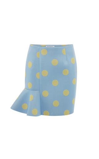 Vivetta - Eva Neoprene Mini Skirt in Blue/Yellow