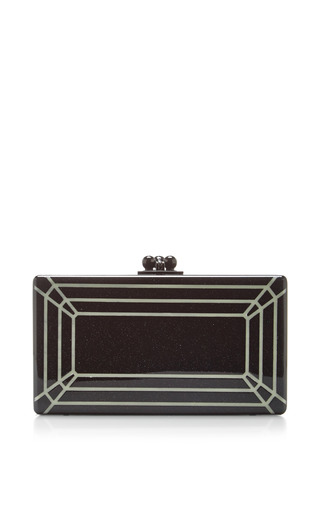 Jean faceted glow in the dark acryllic clutch by EDIE PARKER Now Available on Moda Operandi