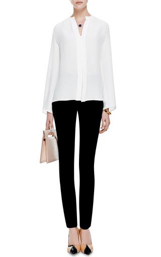 Nehru Collar Silk Blouse by DEREK LAM Now Available on Moda Operandi
