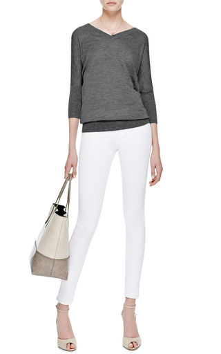 Silk and Cashmere Batwing Sweater by Derek Lam Now Available on Moda Operandi