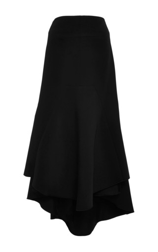 Nomadic Asymmetric Crepe Midi Skirt by Ellery Now Available on Moda Operandi