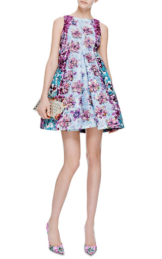 Ponker Embellished Satin-Twill Dress by Mary Katrantzou Now Available on Moda Operandi
