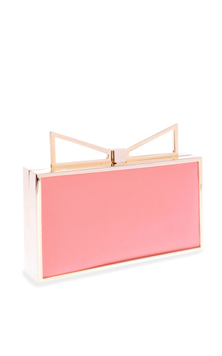 Sara Battaglia - Lady Me Two-Tone Silk Clutch