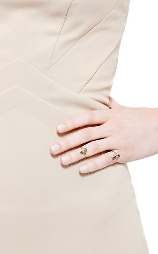Daniela Villegas - Ma'at 18K Pink Gold, Tsavorite, and Sapphire Phalanx Ring