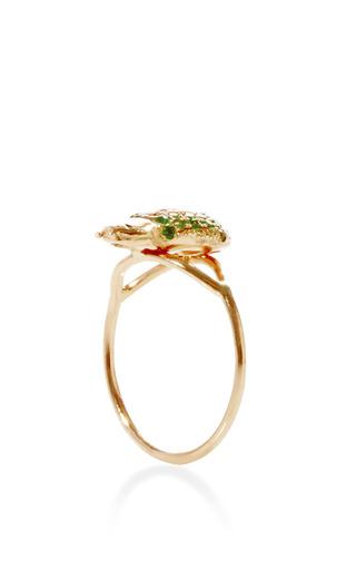 Ma'at 18K Pink Gold, Tsavorite, and Sapphire Phalanx Ring by Daniela Villegas Now Available on Moda Operandi