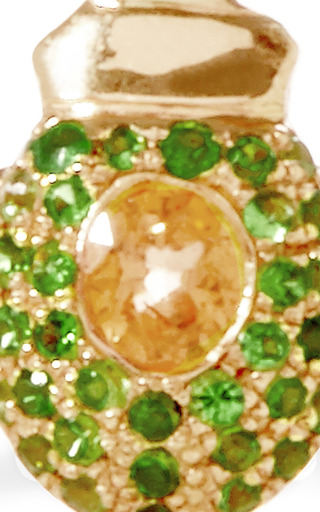 Ma'at 18K Pink Gold, Tsavorite, and Sapphire Phalanx Ring by Daniela Villegas Now Available on Moda Operandi