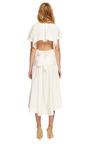Fine Cotton Poplin Tie Shirt Dress by Rosie Assoulin Now Available on Moda Operandi