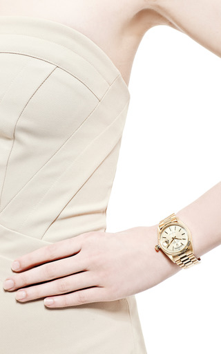 Vintage Rolex 18K Day-Date President by CMT Fine Watch and Jewelry Advisors for Preorder on Moda Operandi