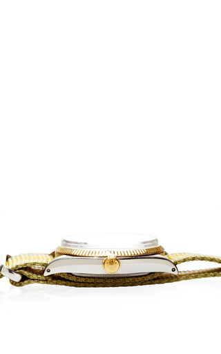 Vintage Rolex Stainless Steel And Yellow Gold Oyster Perpetual Watch by CMT Fine Watch and Jewelry Advisors for Preorder on Moda Operandi