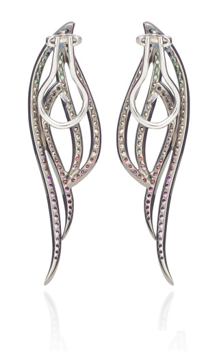 Small Four Lines Earring by AS29 for Preorder on Moda Operandi