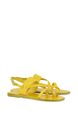 Alethea Sandal In All Yellow by ANCIENT GREEK SANDALS for Preorder on Moda Operandi