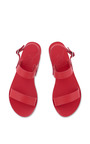 Clio Sandal In All Red by Ancient Greek Sandals for Preorder on Moda Operandi