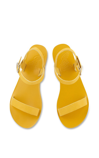 Drama Platform Sandal In All Yellow by ANCIENT GREEK SANDALS for Preorder on Moda Operandi