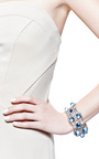 Vintage Diamante And Scattered Crystal Bracelet by Carole Tanenbaum for Preorder on Moda Operandi