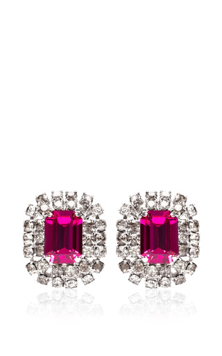 Vintage Violet Emerald-Cut Earrings by Carole Tanenbaum for Preorder on Moda Operandi