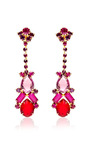 Vintage Long Red And Purple Drop Earrings by Carole Tanenbaum for Preorder on Moda Operandi
