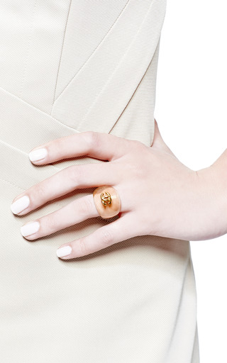 Carole Tanenbaum - Vintage Chanel Transparent Beige With CC Ring