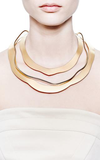 Carole Tanenbaum - Vintage Jacques Le Corre Gold Three Layer Necklace