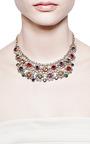 Vintage Multicolor Crystal Small Bib Necklace by Carole Tanenbaum for Preorder on Moda Operandi