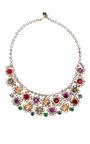 Carole Tanenbaum - Vintage Multicolor Crystal Small Bib Necklace