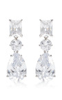 Fallon - Triple Crystal Drop Earrings