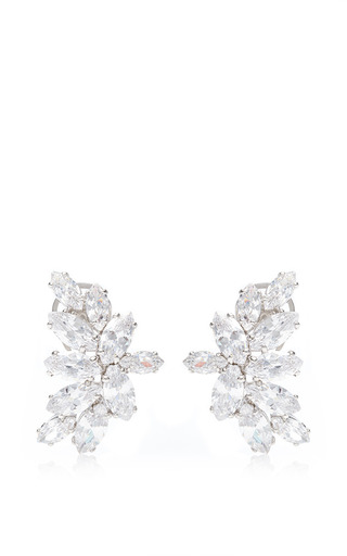 Crystal Cluster Earrings by Fallon Now Available on Moda Operandi