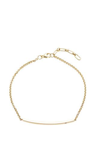 14K Diamond Curved Bar Bracelet by Zoe Chicco for Preorder on Moda Operandi