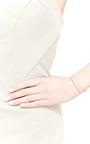 14 K Diamond Curved Bar Bracelet by ZOE CHICCO for Preorder on Moda Operandi
