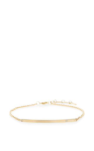 Zoe Chicco - 14K Diamond Curved Bar Bracelet