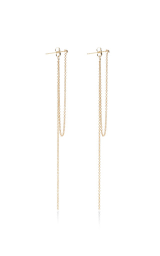 Zoe Chicco - 14K Pave Chain Fringe Studs