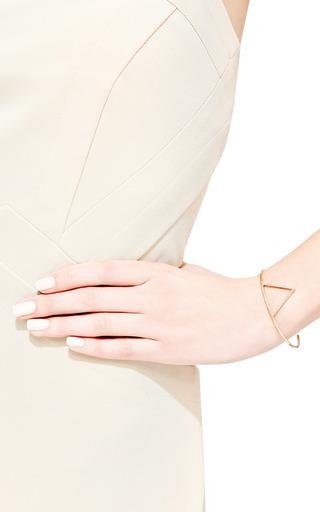 14K Pave Open Triangle Cuff by Zoe Chicco for Preorder on Moda Operandi
